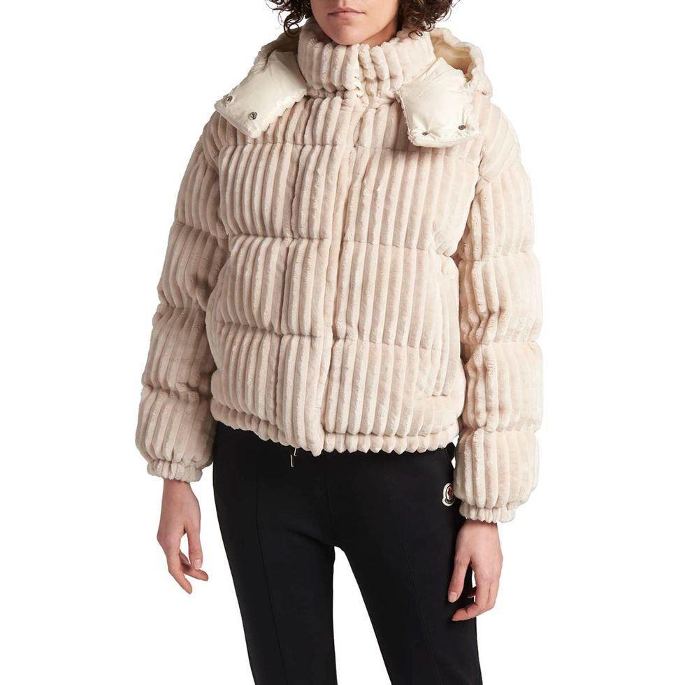 moncler doas ribbed puffer jacket