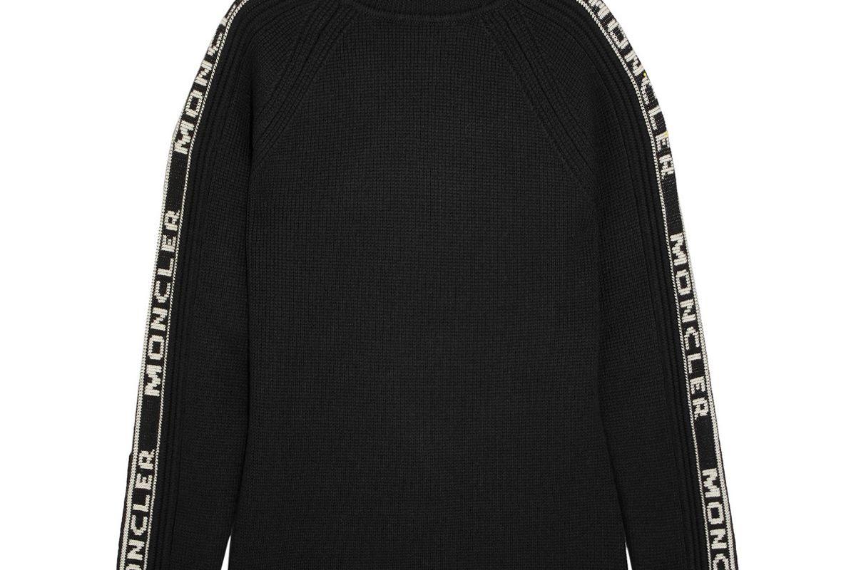 moncler intarsia wool turtleneck sweater