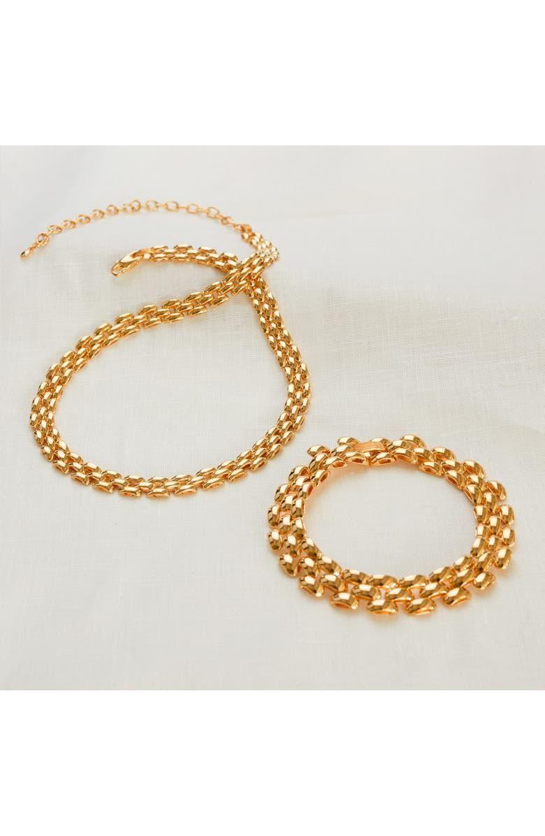 monica vinader x doina heirloom chain bracelet