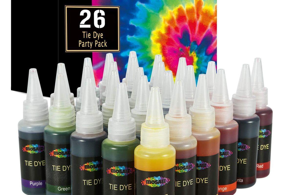 mosaiz 26 colors tie dye kit with spray nozzles permanent