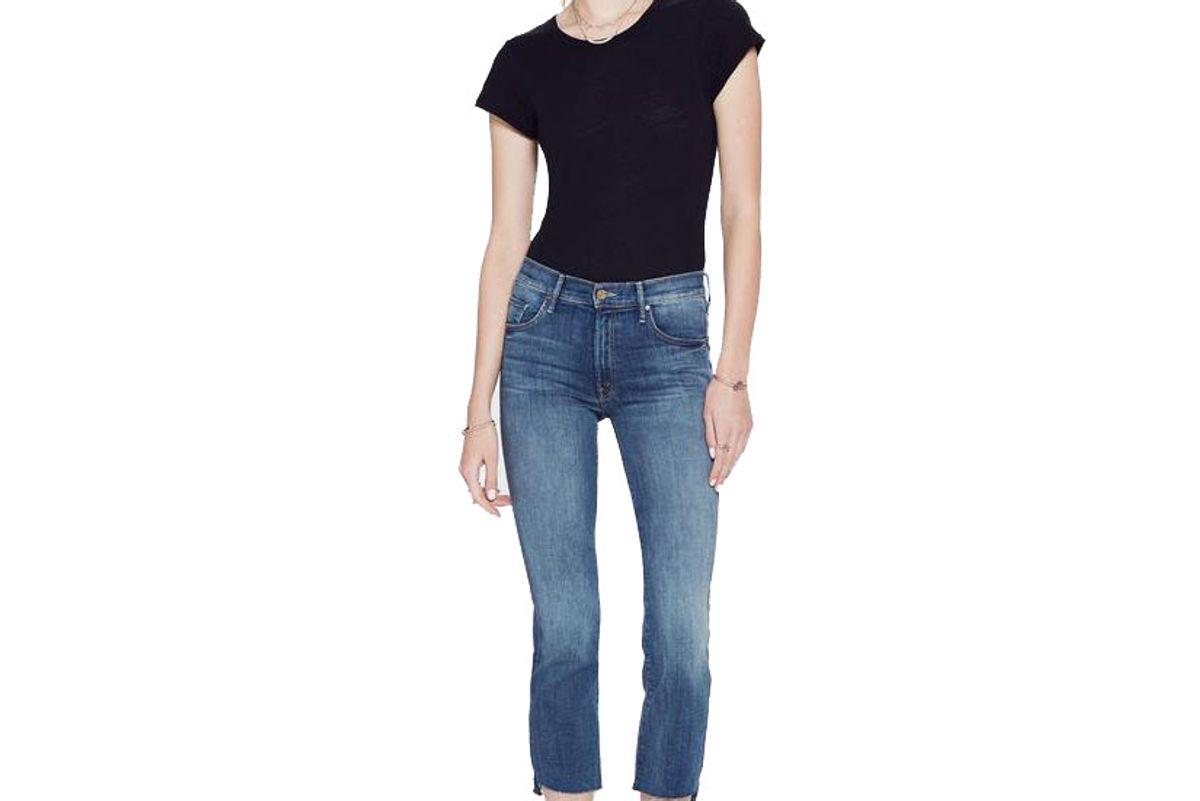 mother denim insider crop step fray not rough enough jeans