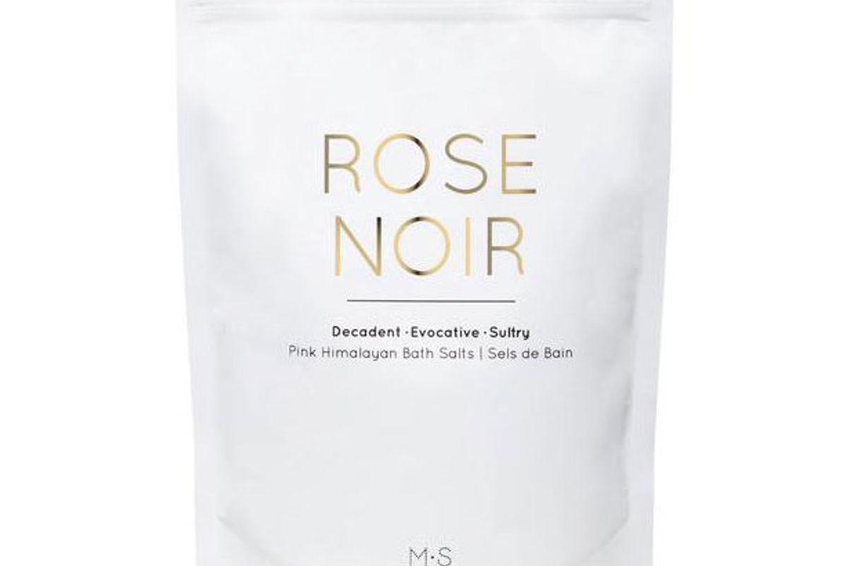 ms skincare rose noir pink himalayan bath salts