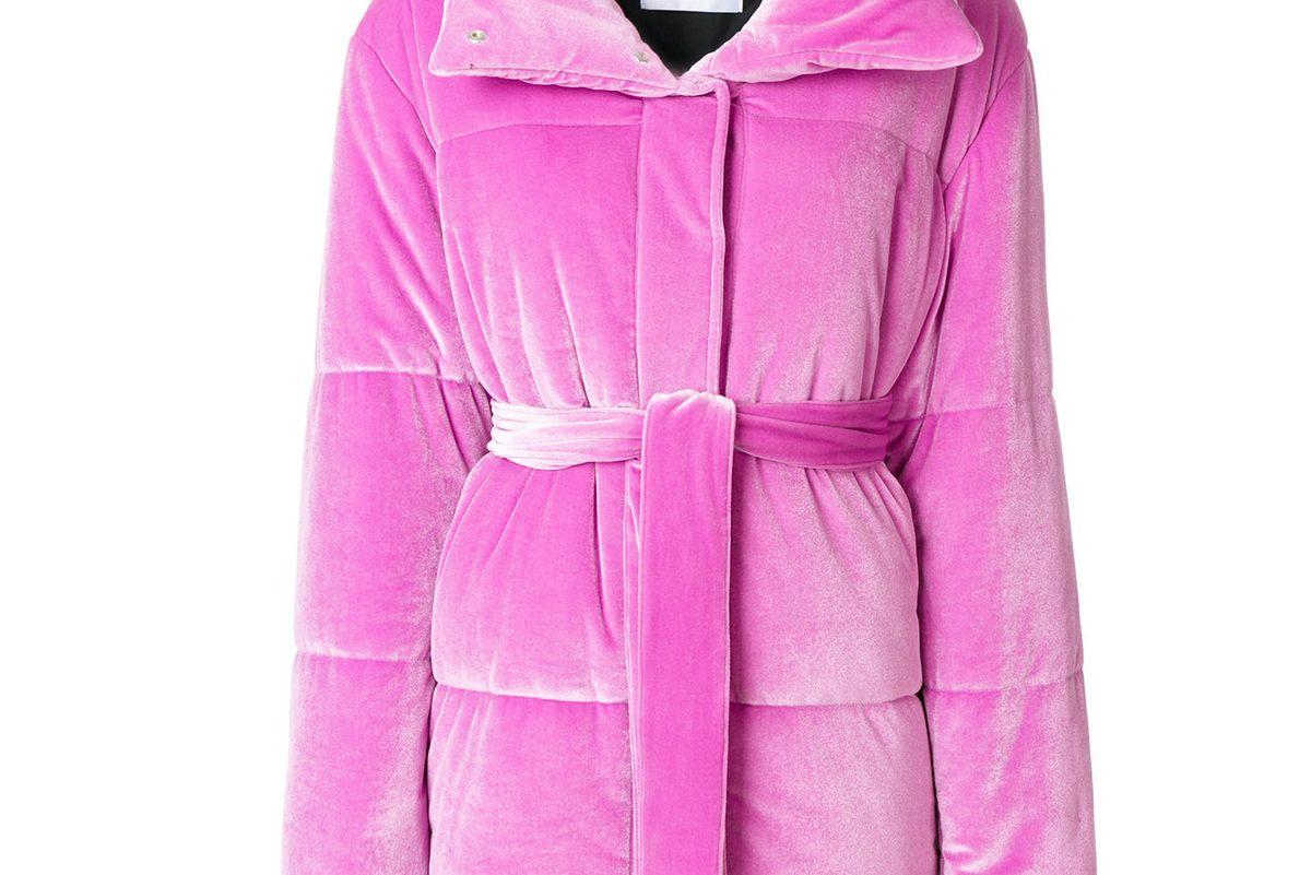 msgm textured puffer jacket