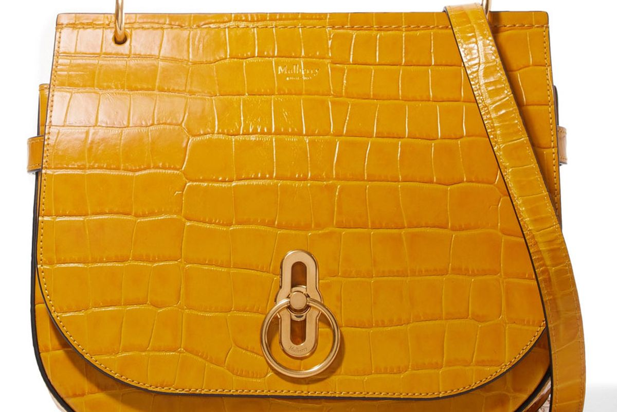 Amberley Croc-Effect Leather Shoulder Bag