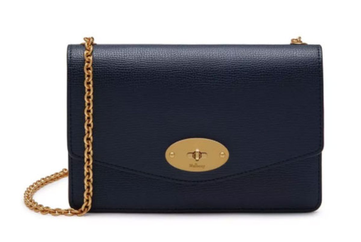 mulberry small darley cross grain leather bag