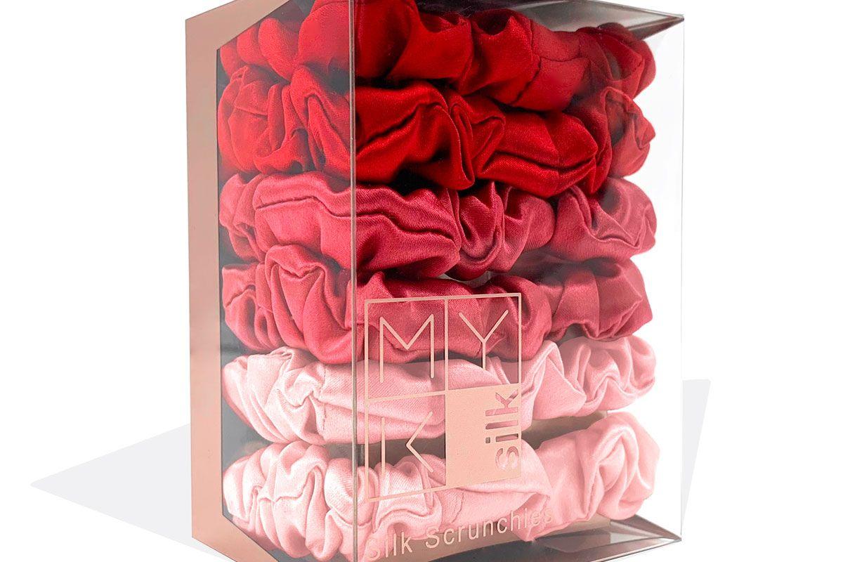 myk silk small scrunchies box of 6