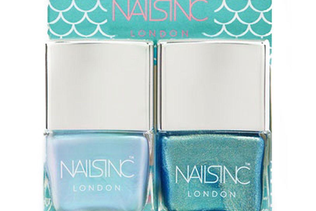 nails inc self made mermaid nail polish duo