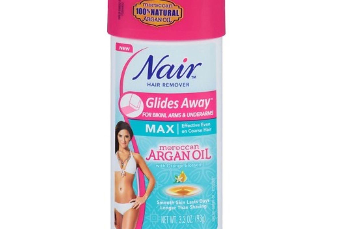 nair hair remover gides away max moroccan argan oil for bikini arms underarms