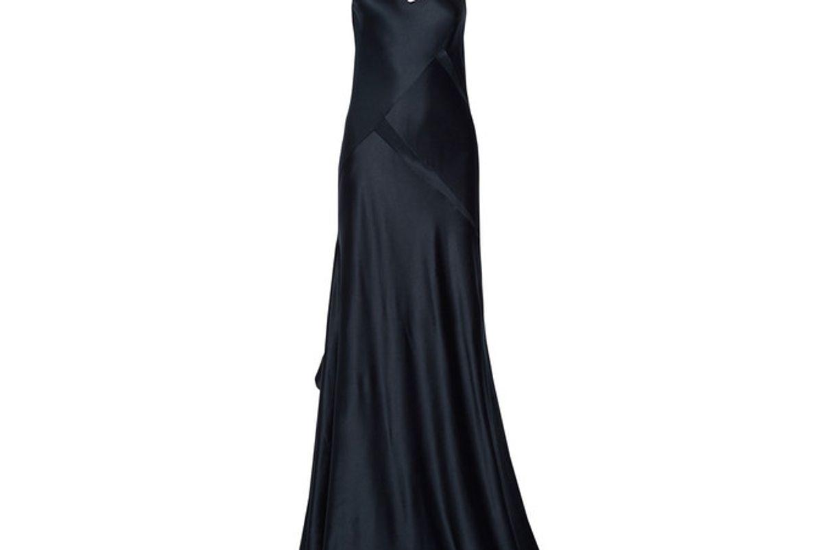 Paneled Silk-satin Gown