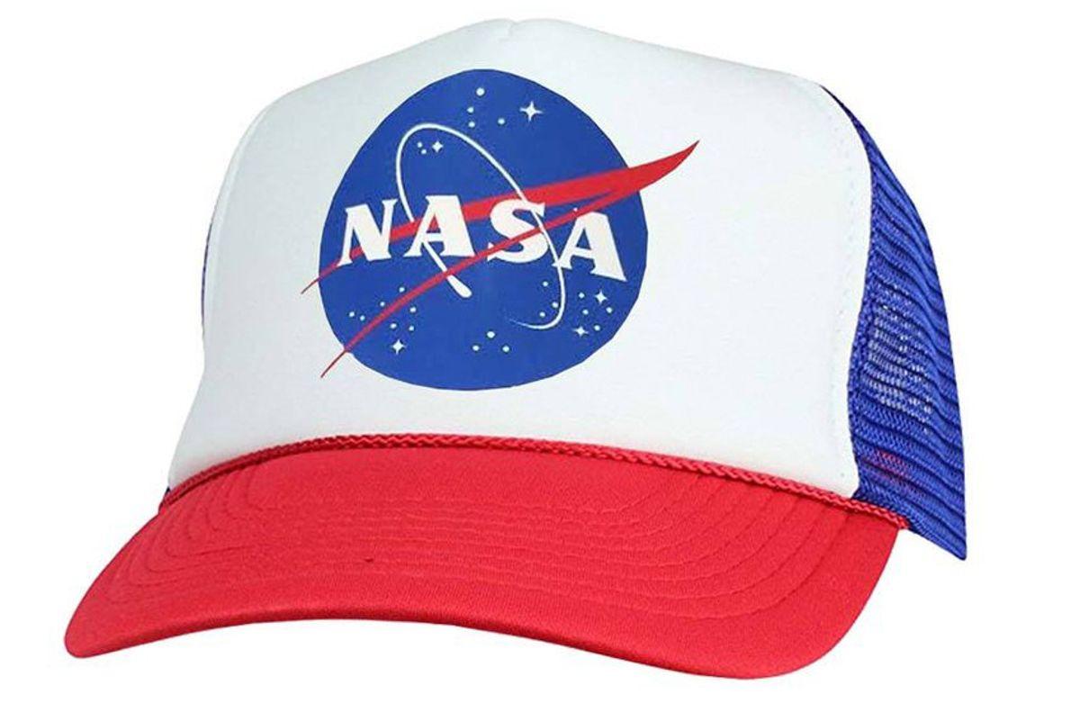 nasa insignia trucker hat