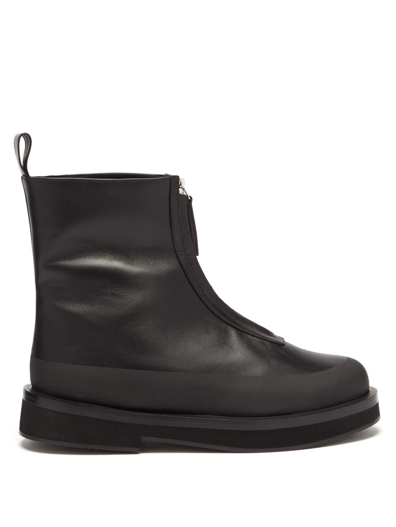 neous malmok zipped leather boots