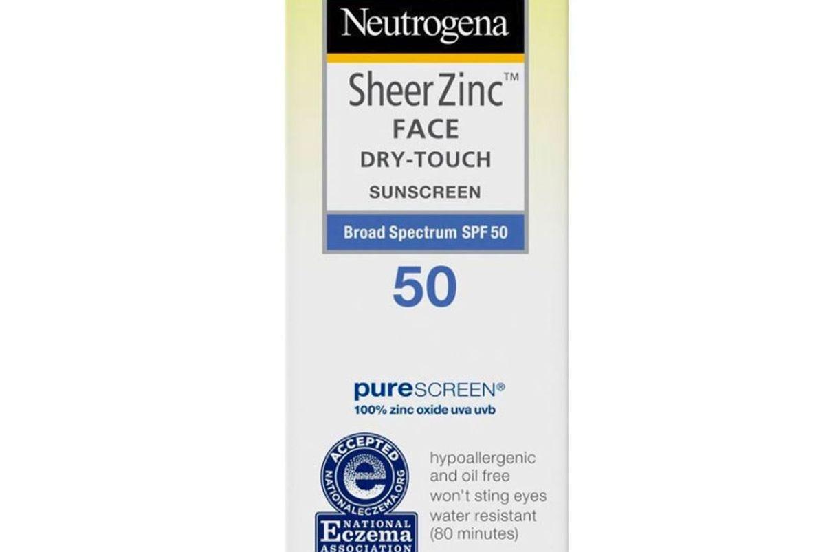 neutrogena sheer zinc face sunscreen