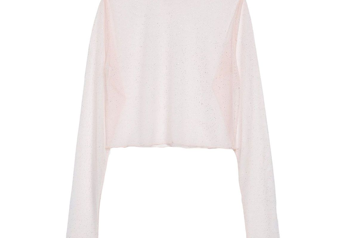 new girl order sparkly mesh layering top