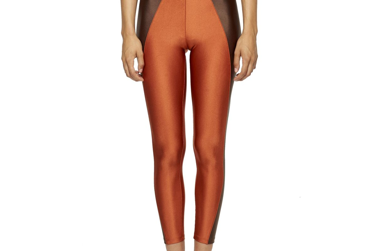 new york pilates copper chocolate high waisted leggings