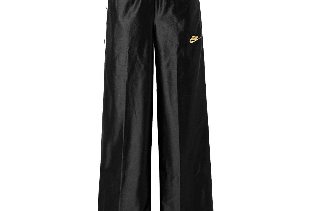 nike glam dunk striped satin jersey track pants