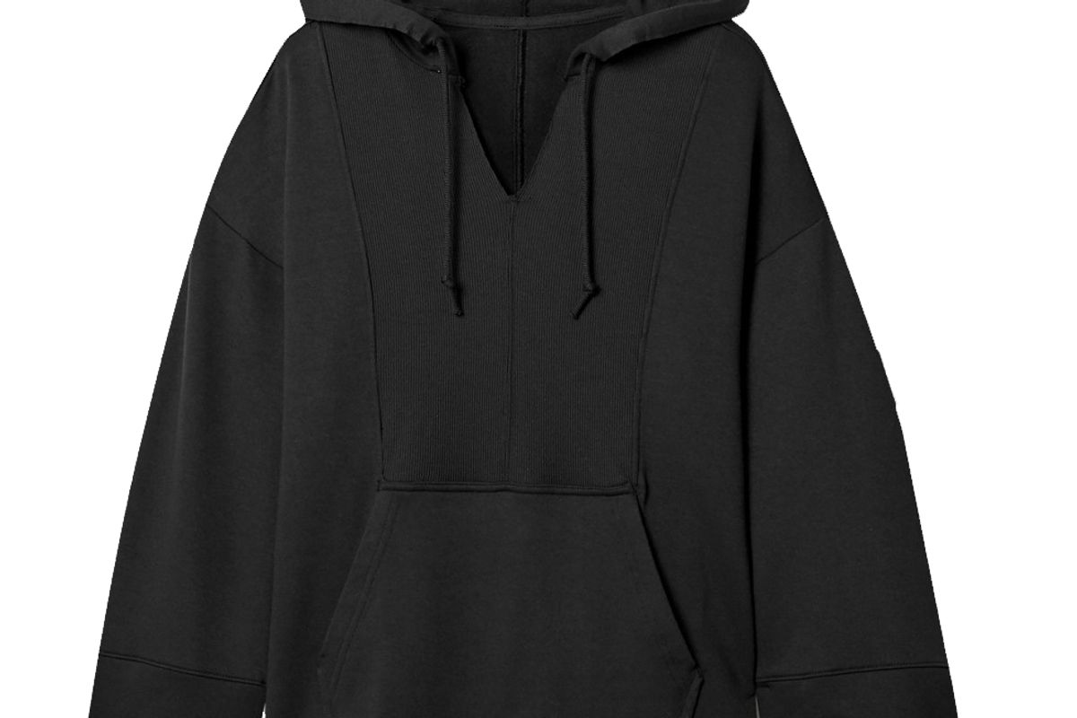 nike yoga luxe stretch jersey hoodie