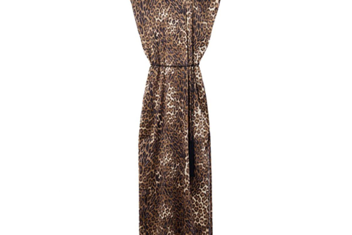 nili lotan lillian dress leopard