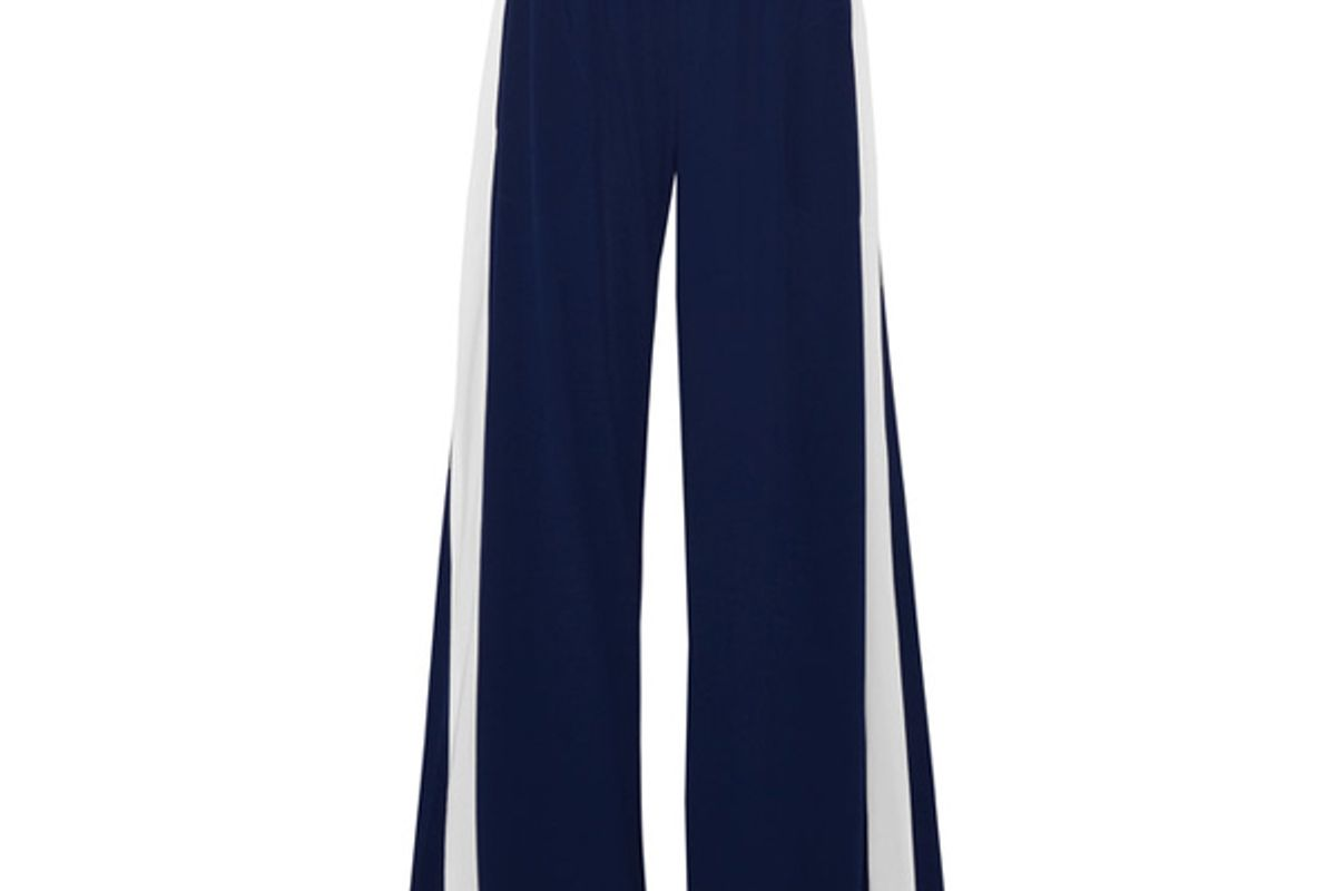 Striped Stretch-jersey Wide-leg Pants