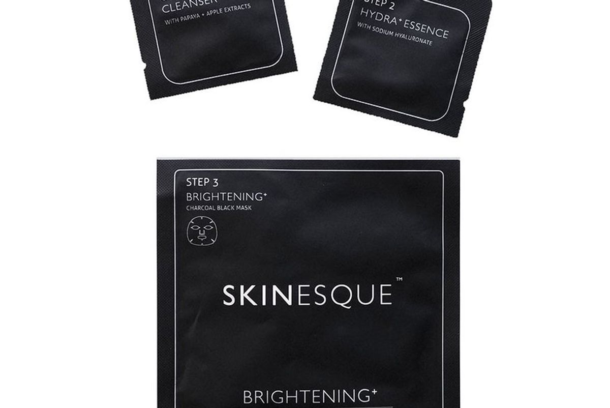 3-step Brightening+ Charcoal Mask