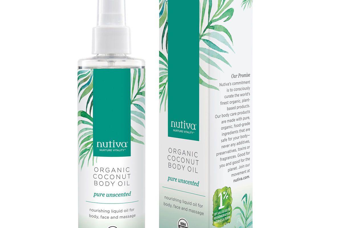 nutiva organic coconut body oil purely unscented