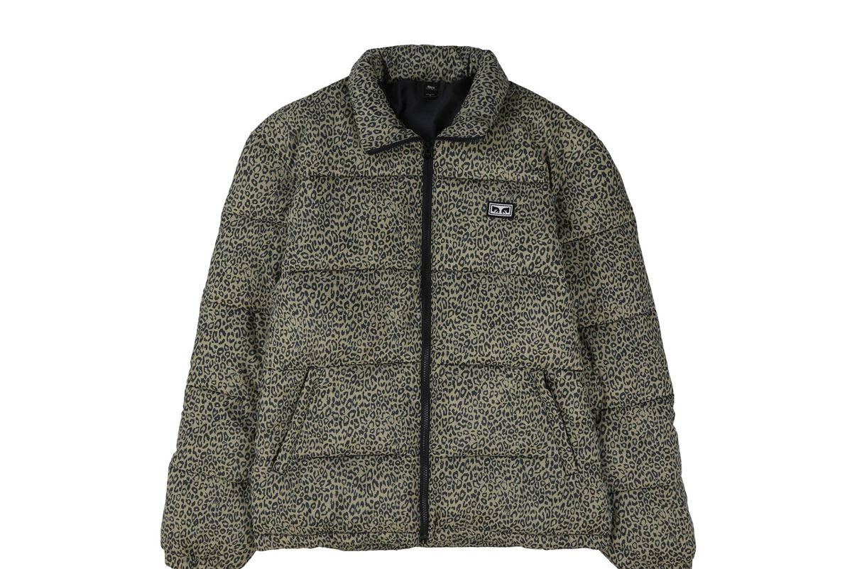 obey bouncer puffer jacket