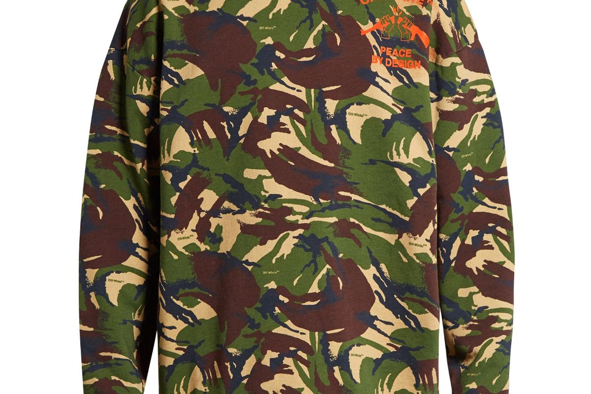 Camouflage-Print Cotton-Jersey Sweatshirt