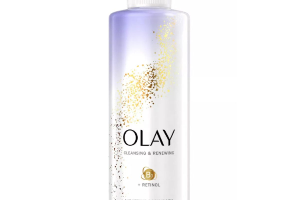 olay cleansing and renewing nighttime body wash with retinol
