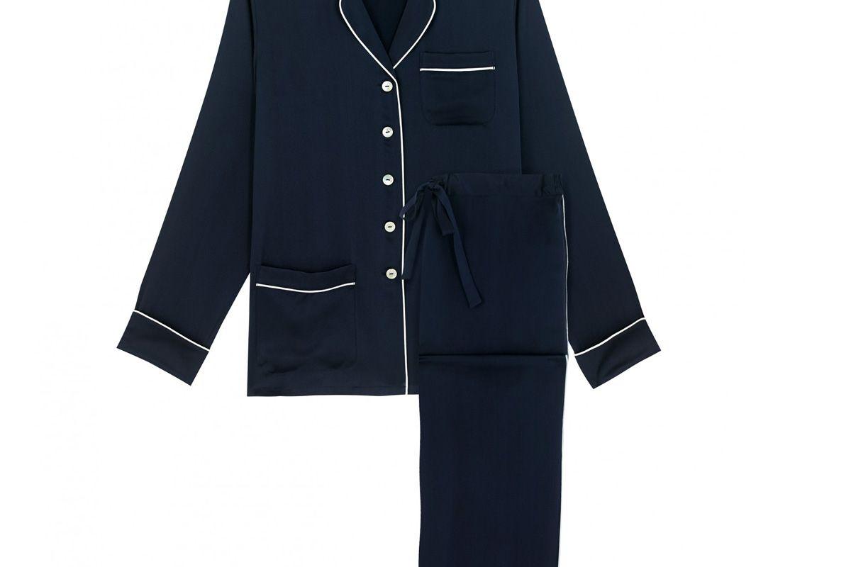 Coco Navy Silk Pyjama
