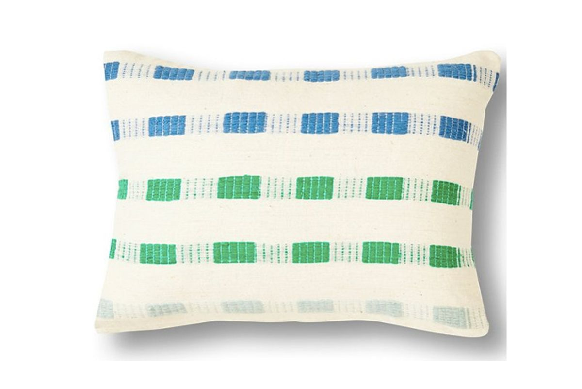 one kings lane chuchu pillow blue