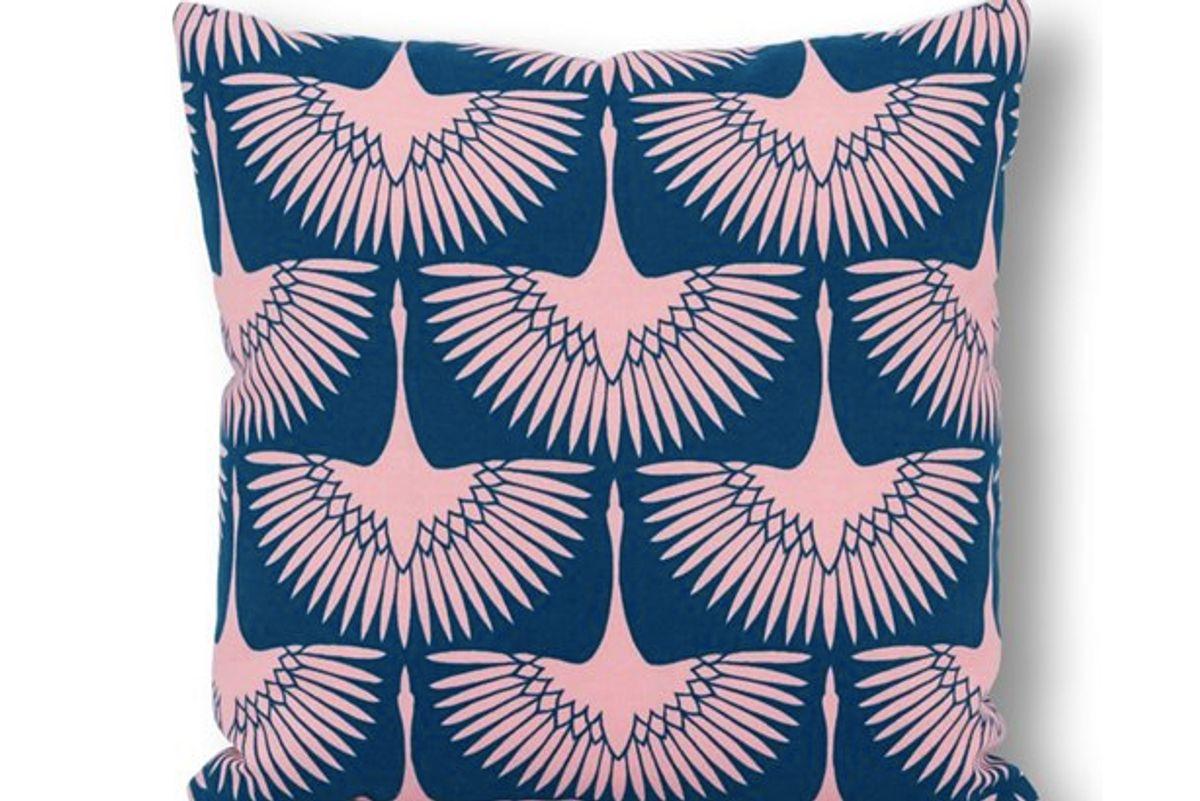 one kings lane outdoor pillow blue blush