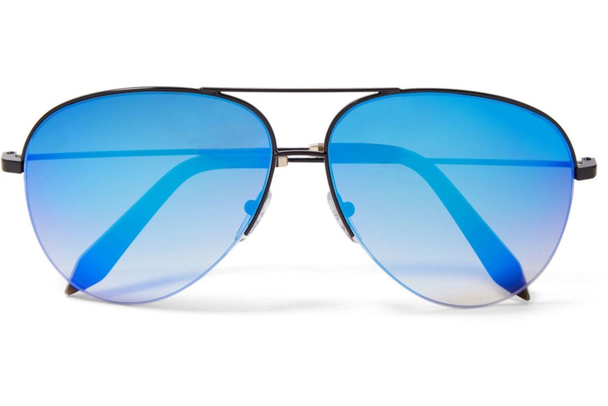 Aviator-Style Metal Mirrored Sunglasses