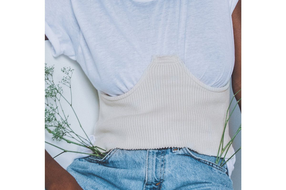 Knit Corset in Off-White