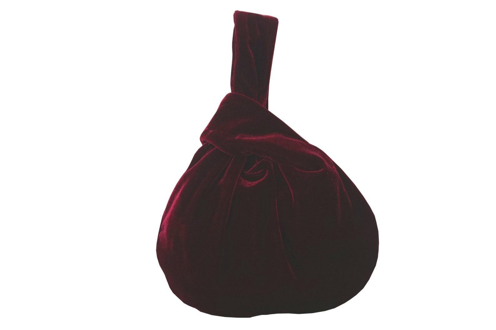 osadasklep burgundy japanese velvet bag