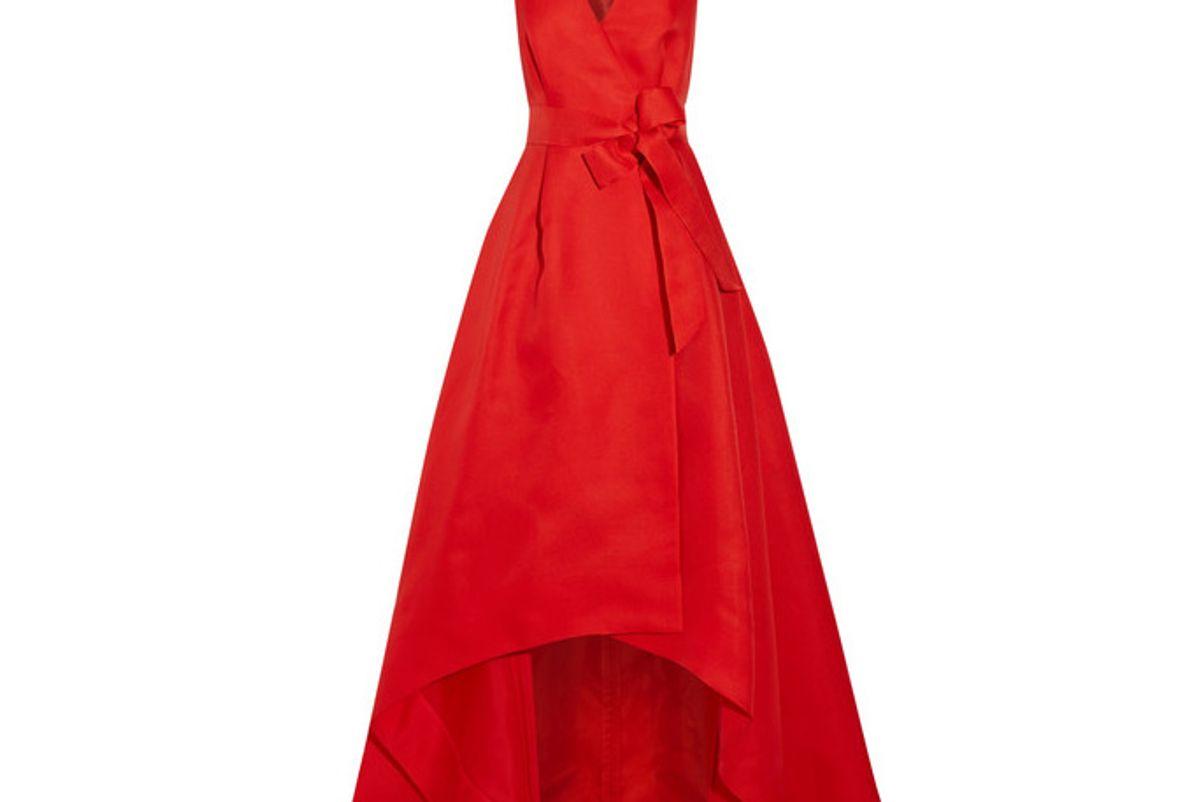 Woven Silk Wrap Gown