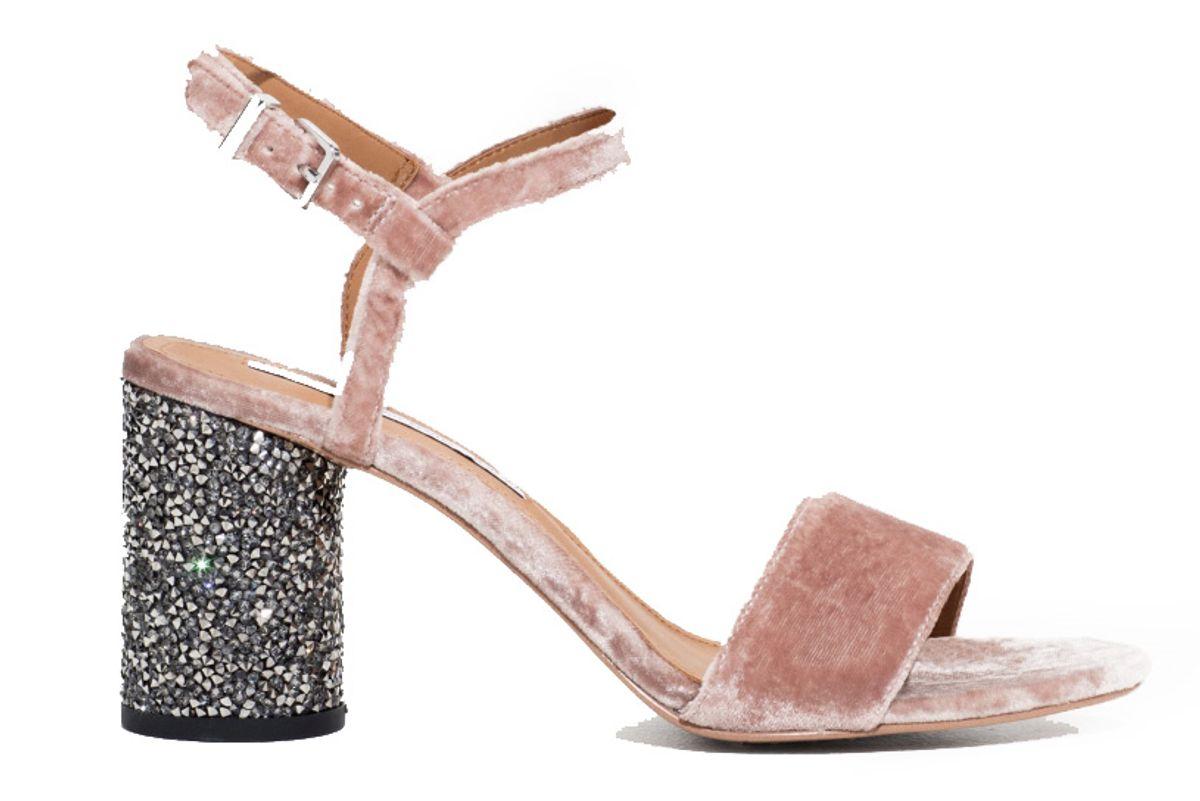 Velvet Sequin Heel Sandalette