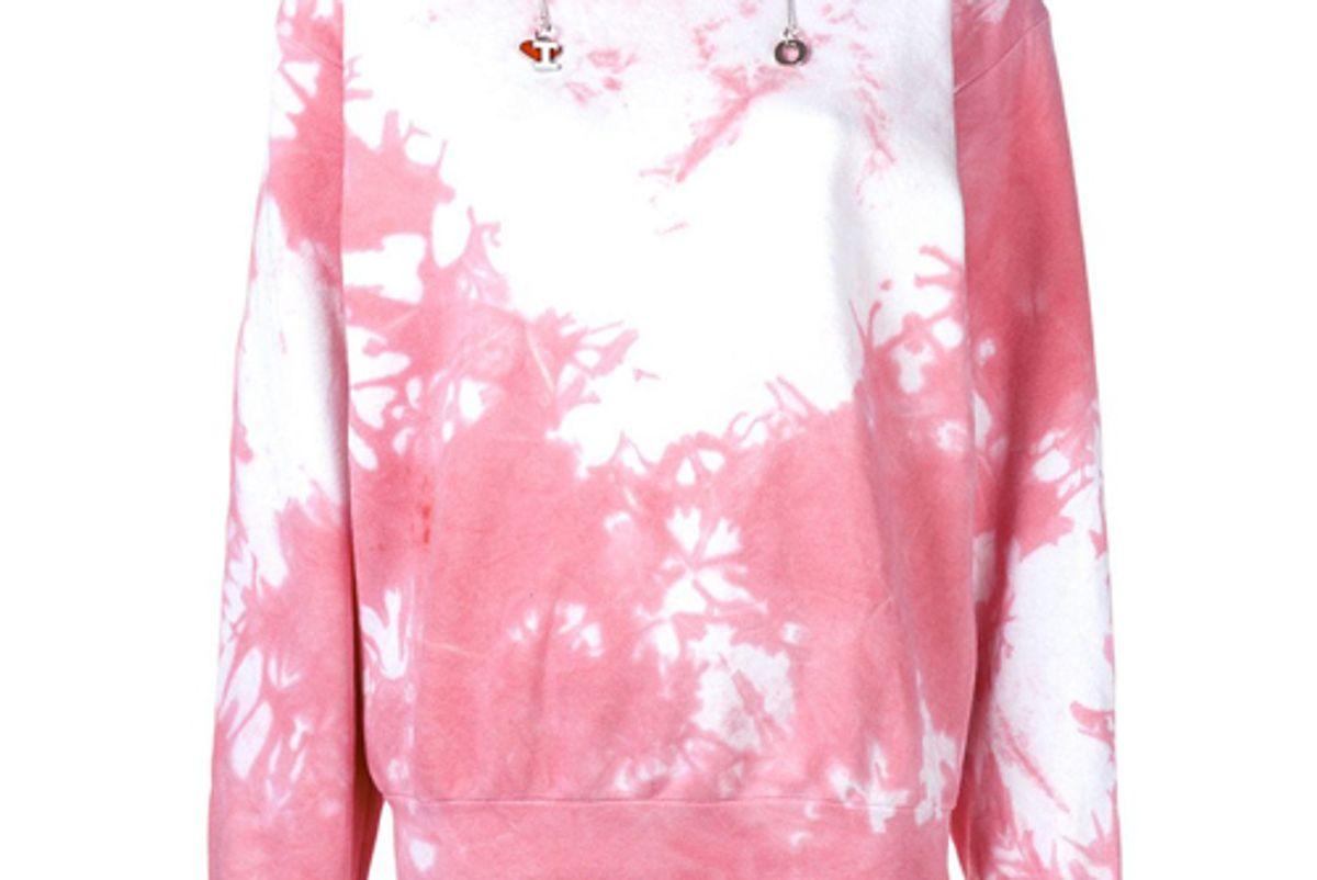 ottolinger tie dye print hoodie