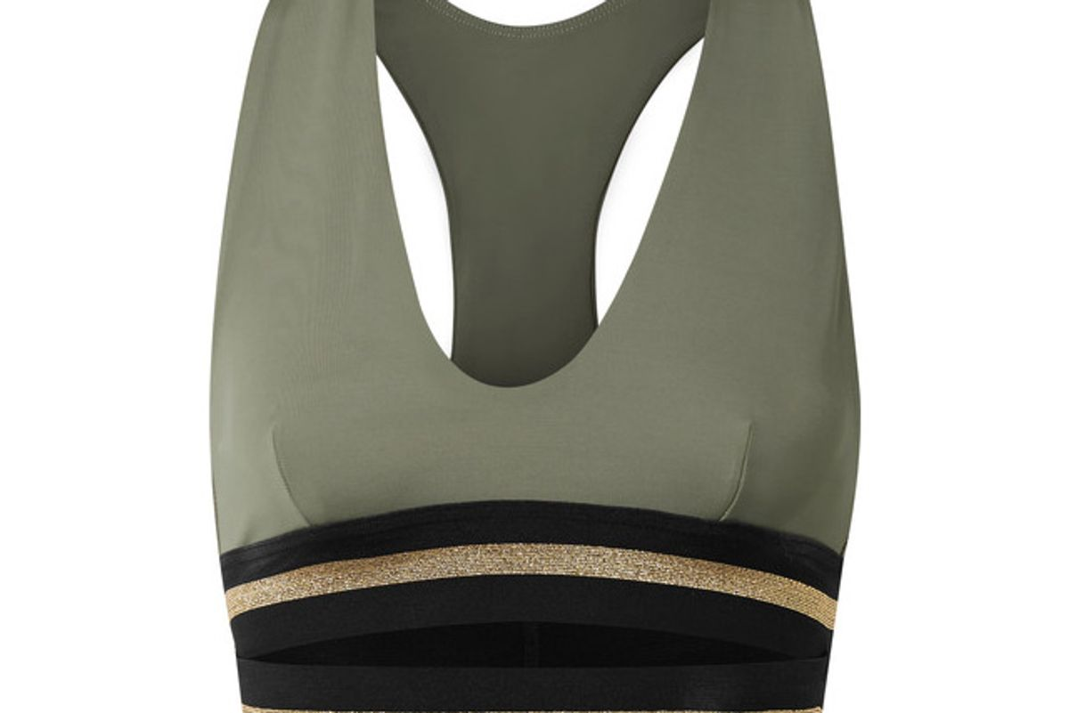 The Full Toss stretch-jersey sports bra
