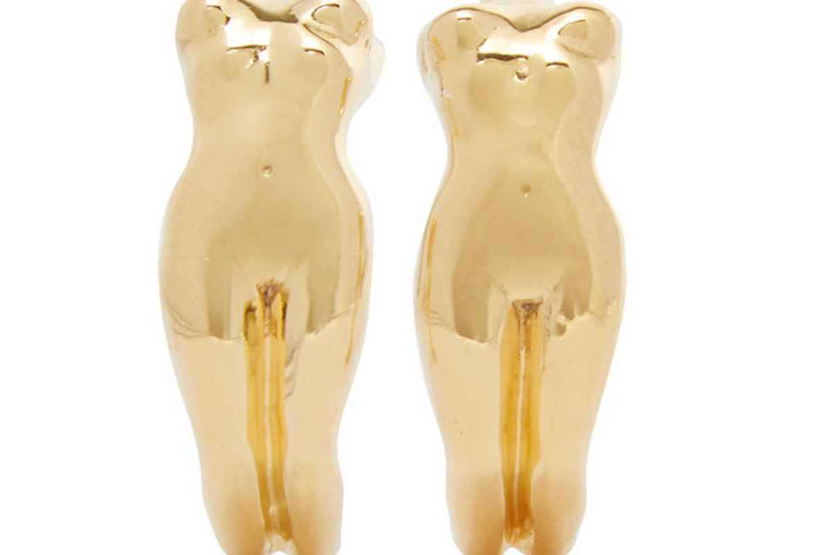 paola vilas eva gold plated earrings