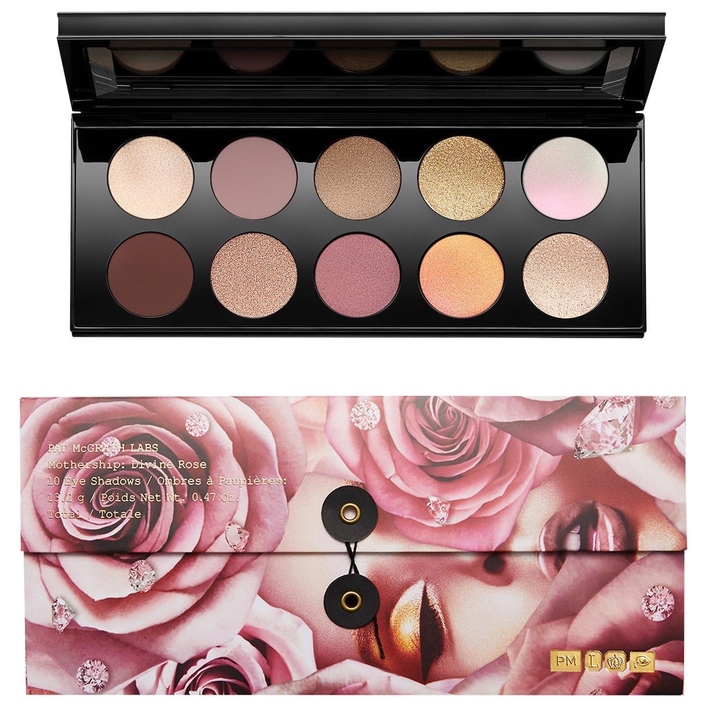 pat mcgrath labs mothership vii eyeshadow palette divine rose collection