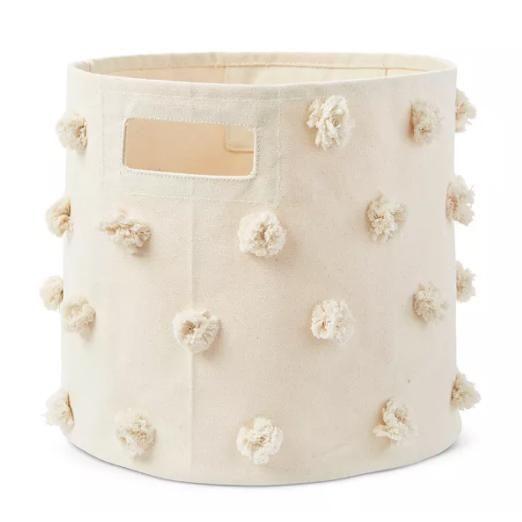 pehr pom pom cotton canvas storage bin