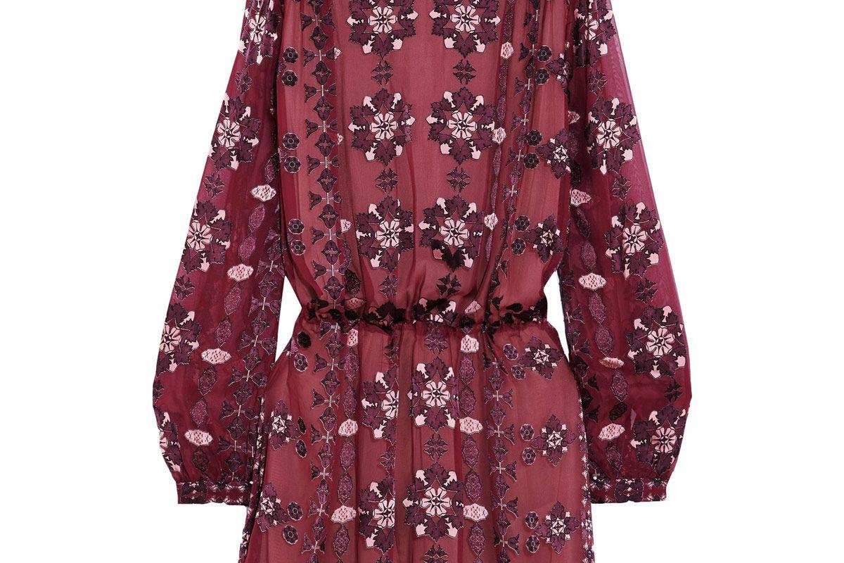 Devoré Silk-Blend Chiffon Mini Dress