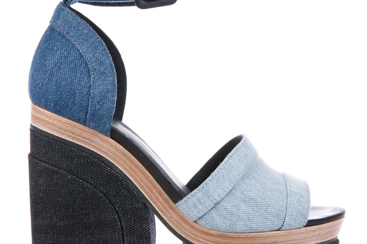 pierre hardy denim d'orsay sandals