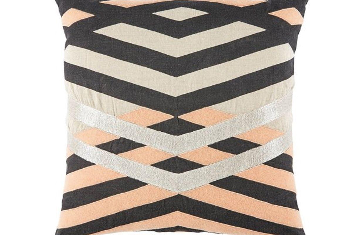 pillow cream pink linen