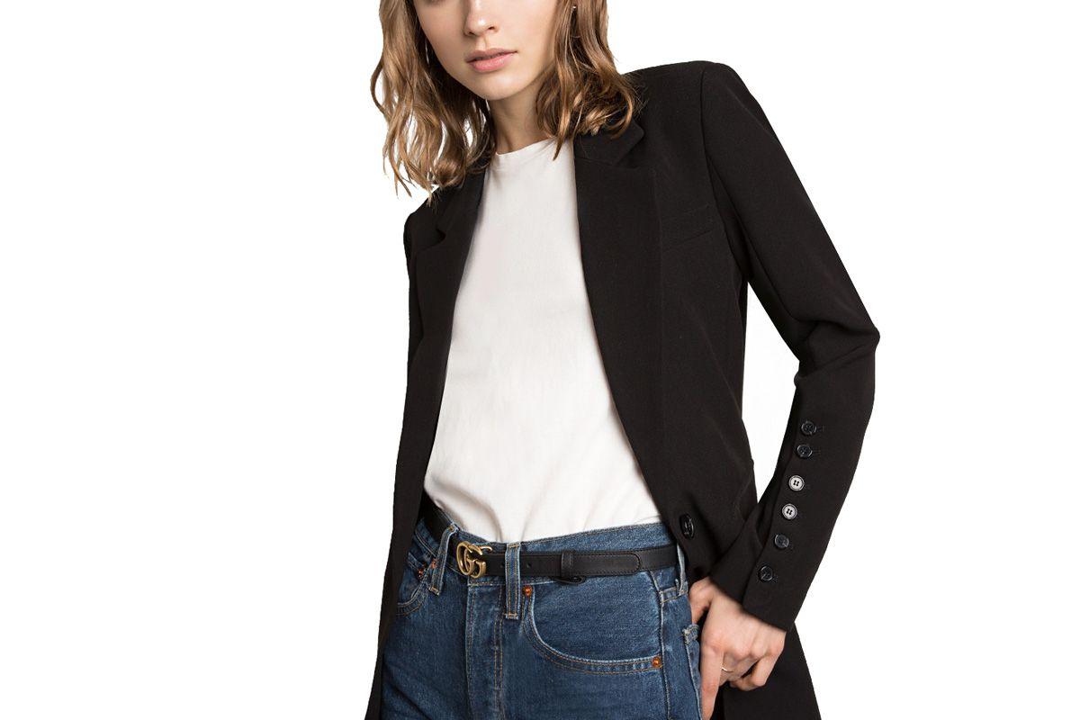 Black Multi Button Blazer