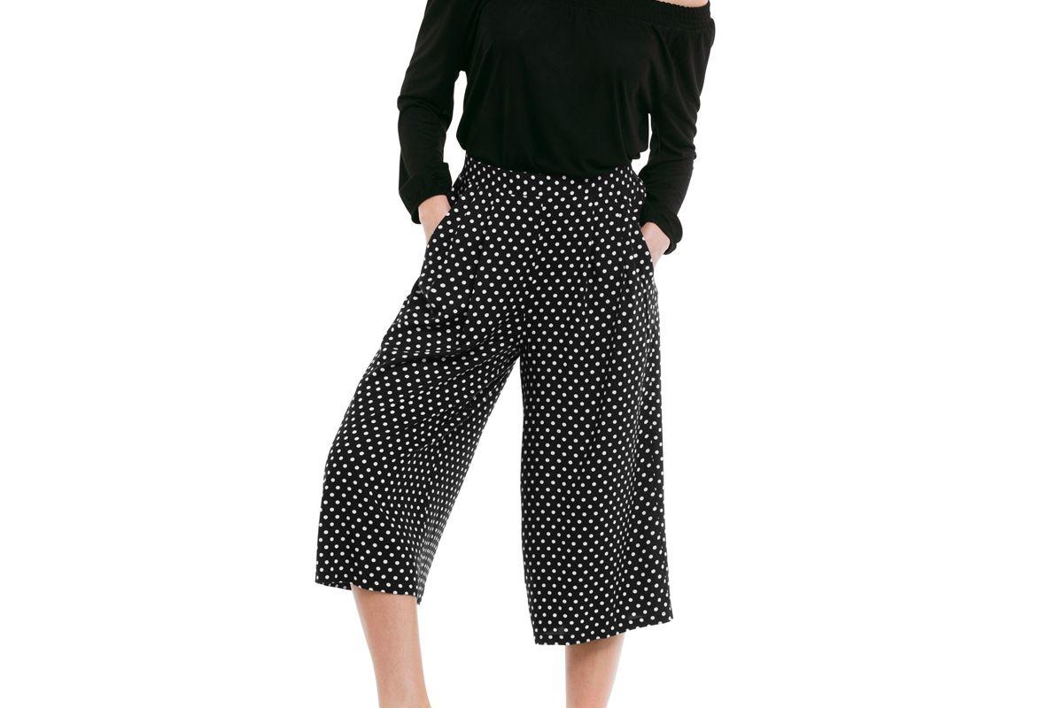 Cropped Soft Wide Leg Pants
