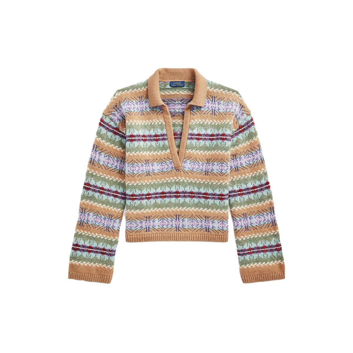 polo ralph lauren fair isle v neck sweater
