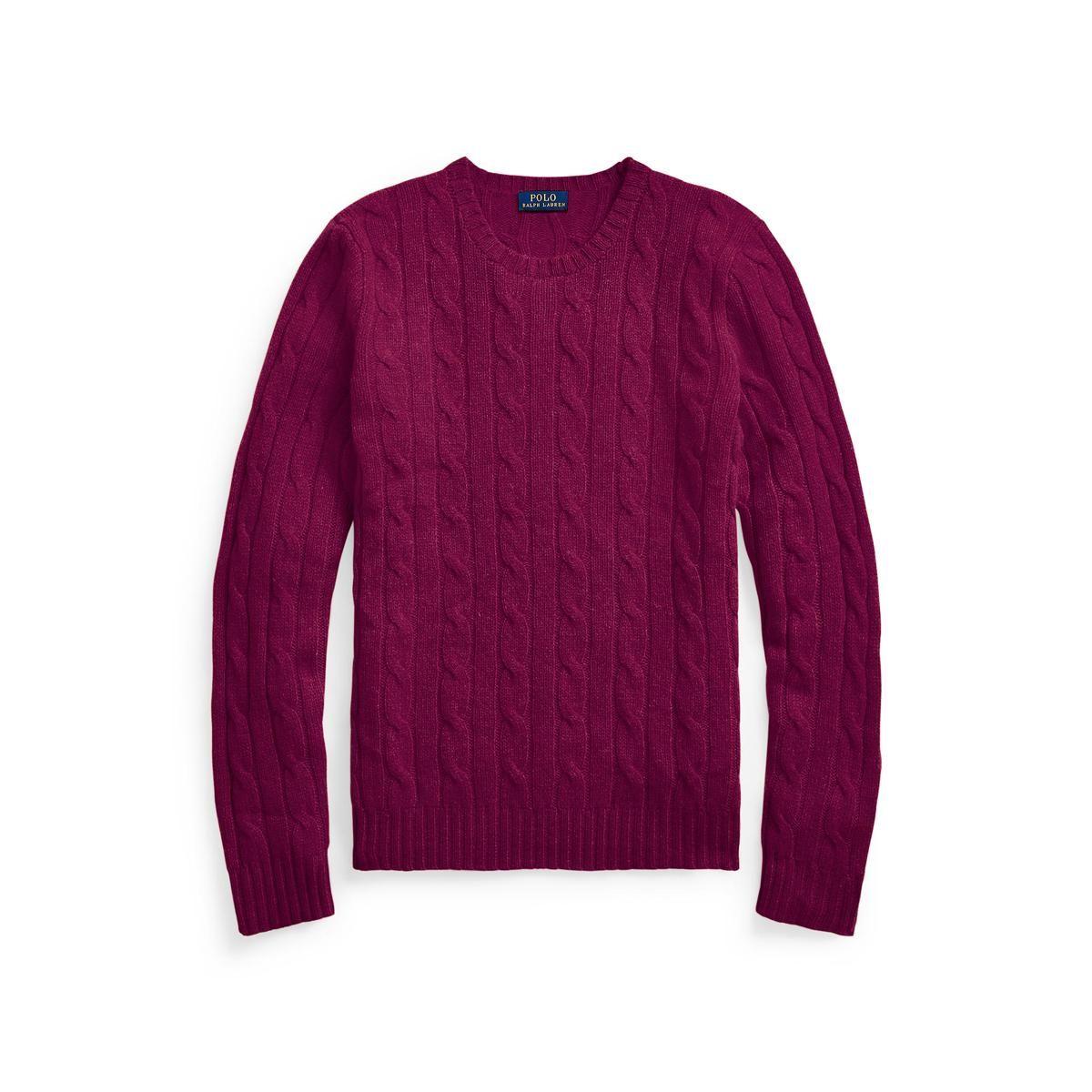 polo ralph lauren julianna cashmere cable sweater