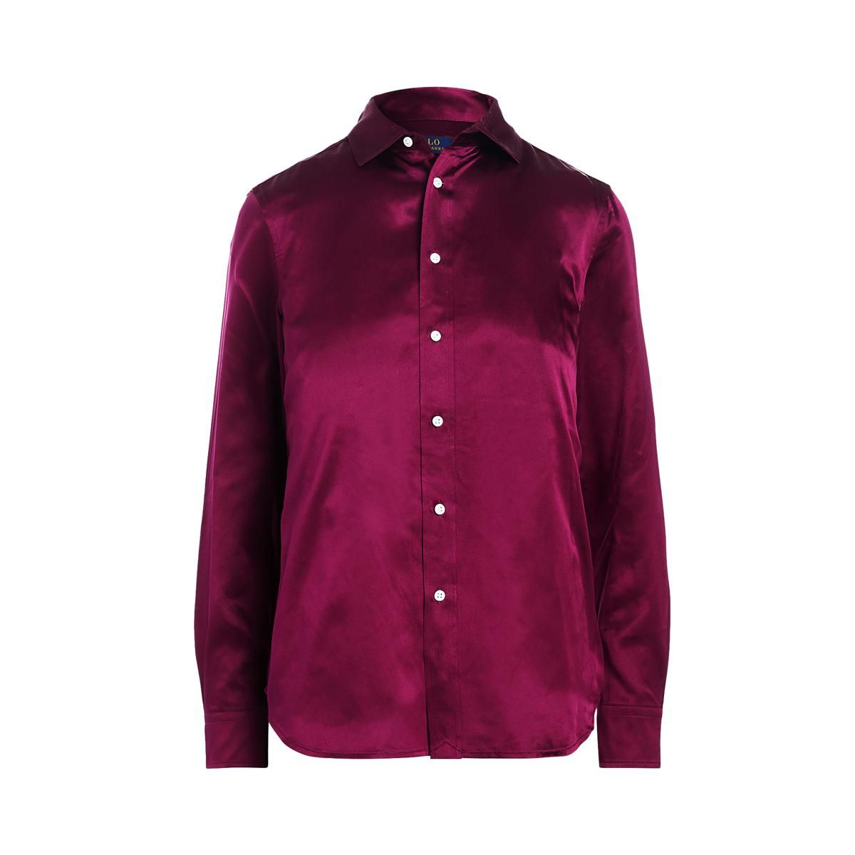 polo ralph lauren silk charmeuse button down shirt