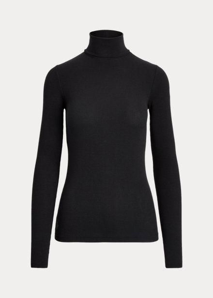 polo ralph lauren stretched ribbed turtleneck