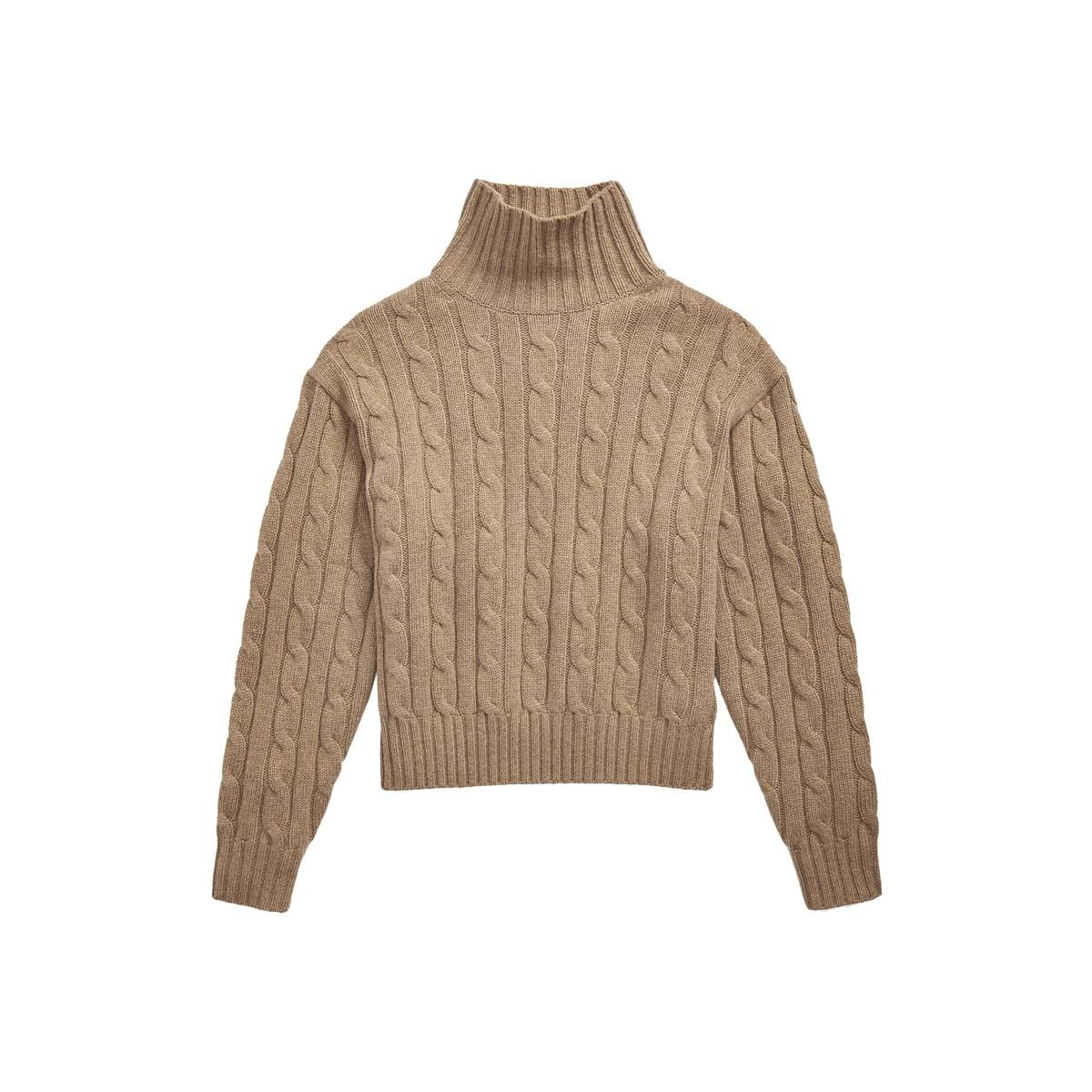 polo ralph lauren wool cashmere cable turtleneck sweater